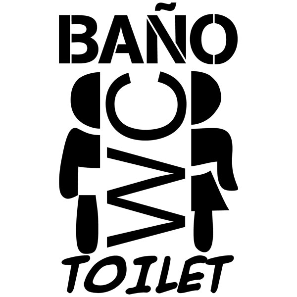 Wandtattoos: Toilet