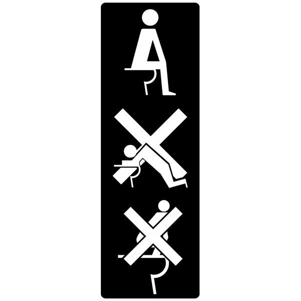 Wandtattoos: WC nicht zu tun