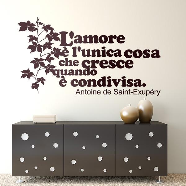 Wandtattoos: L amore è l unica cosa che cresce quando...