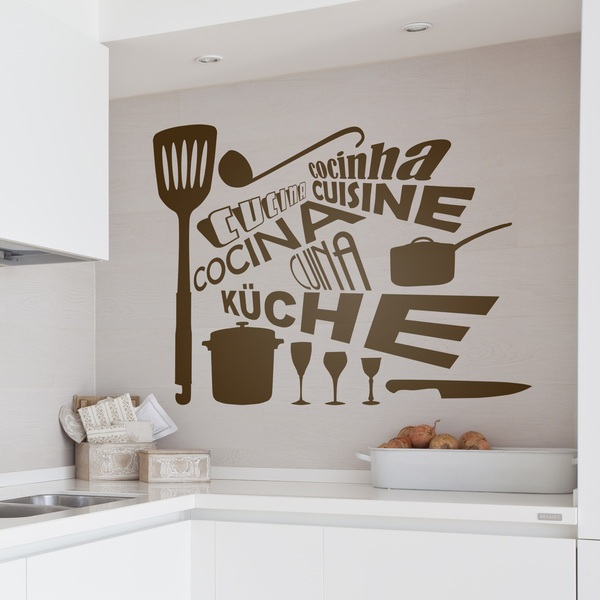 Wandtattoos: Kitchen in Languages
