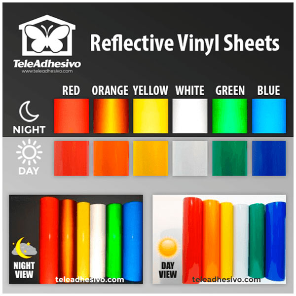Aufkleber: Vinyl Sheet Reflective