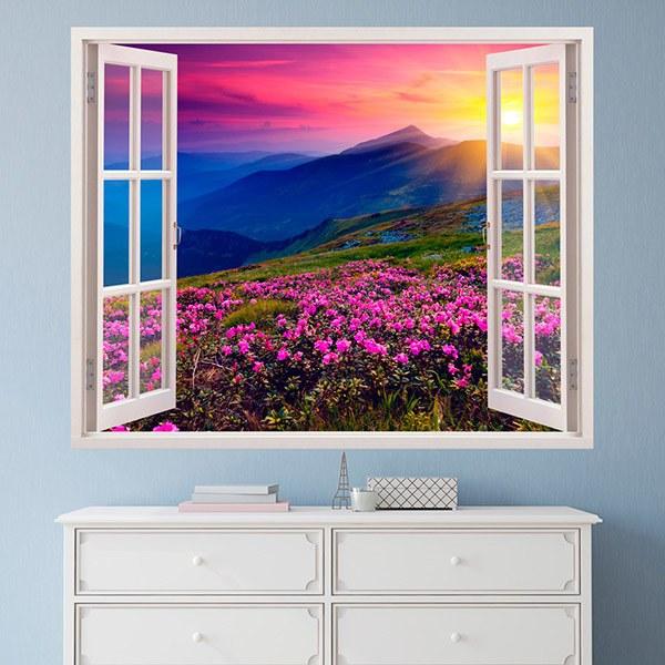 Wandtattoos: Blumen und Berge