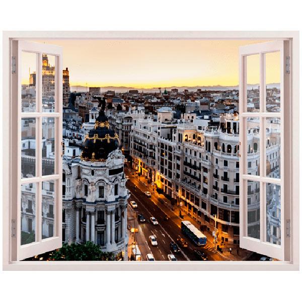 Wandtattoos: Gran Vía in Madrid