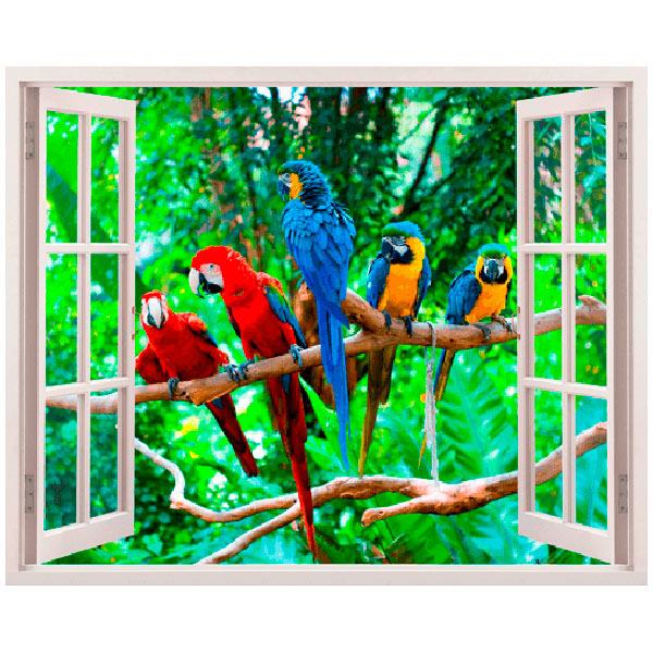 Wandtattoos: Papageien