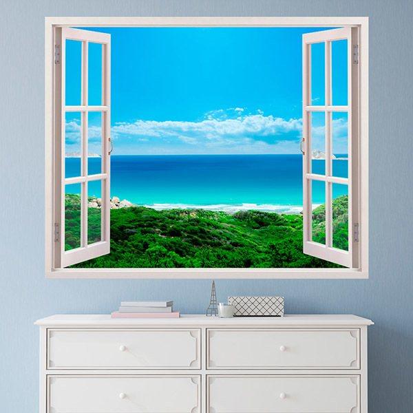 wandtattoo 3d effekt fenster. Black Bedroom Furniture Sets. Home Design Ideas