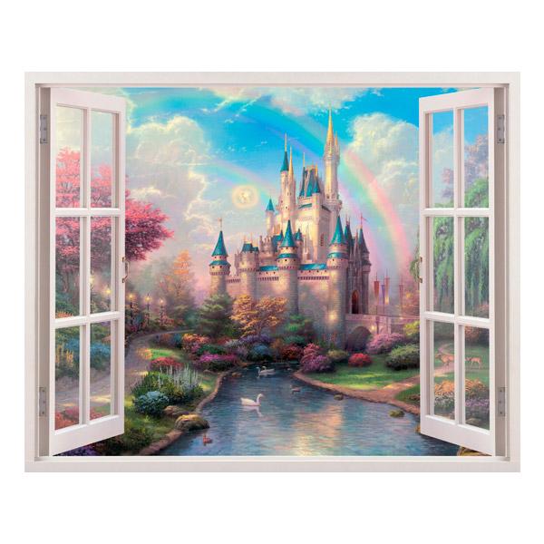 Kinderzimmer Wandtattoo: Disney-Schloss und Tinker Bell