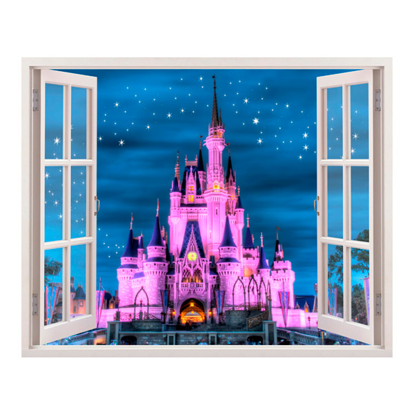 Disney schloss - Wandtattoo kinderzimmer disney ...