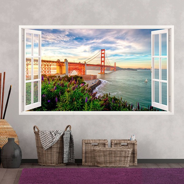 Wandtattoos: Panorama Golden Gate