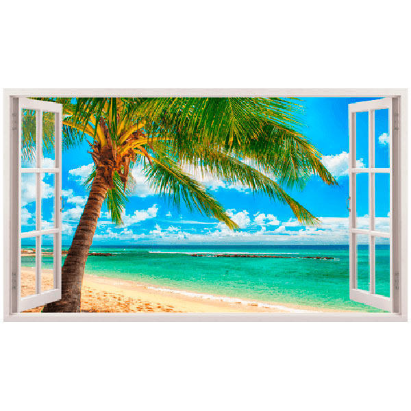 Wandtattoos: Panorama Palmen am Strand 4