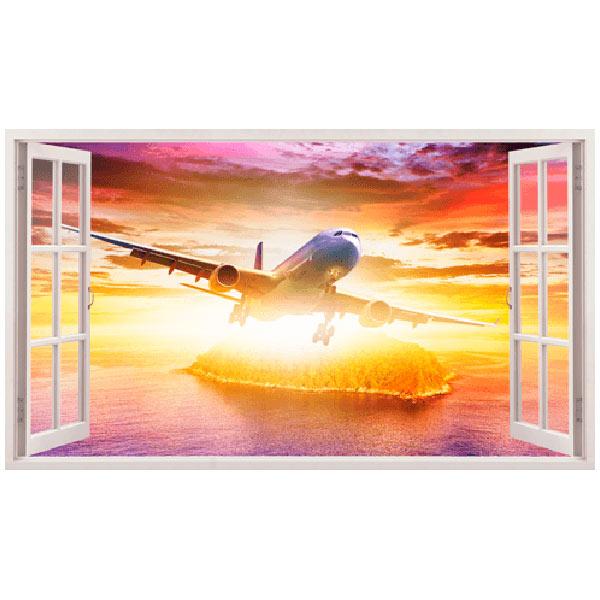Wandtattoos: Panorama Düsenflugzeug 2
