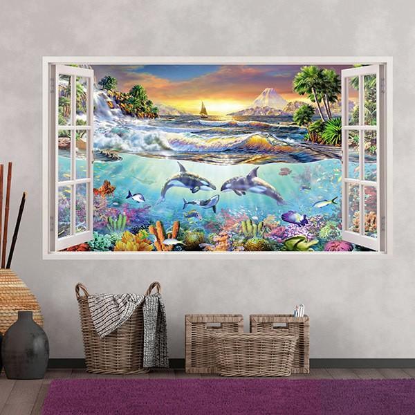 Wandtattoos: Panorama Meeresboden