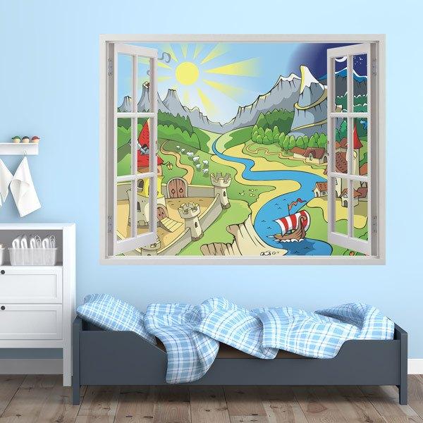 Kinderzimmer Wandtattoo: Des Flusses