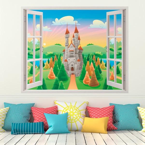 Kinderzimmer Wandtattoo: Schloss Sonne