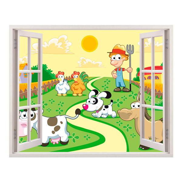Kinderzimmer Wandtattoo: Die Farm