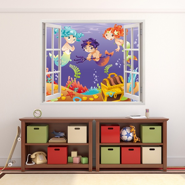 Kinderzimmer Wandtattoo: Gold-Sirenen