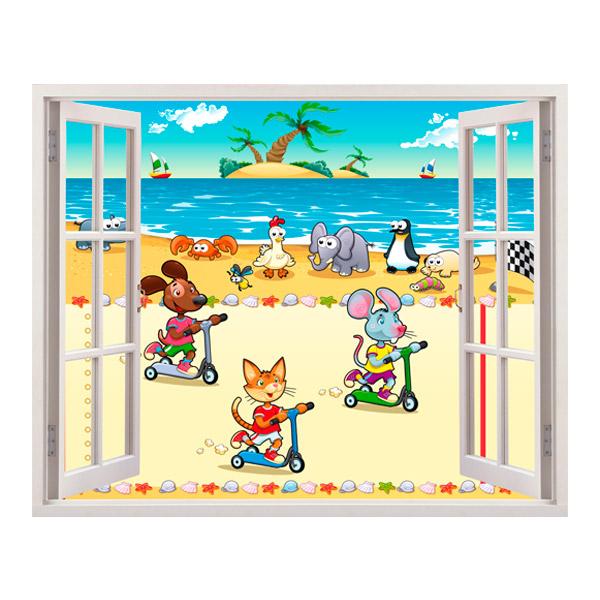 Kinderzimmer Wandtattoo: beach race