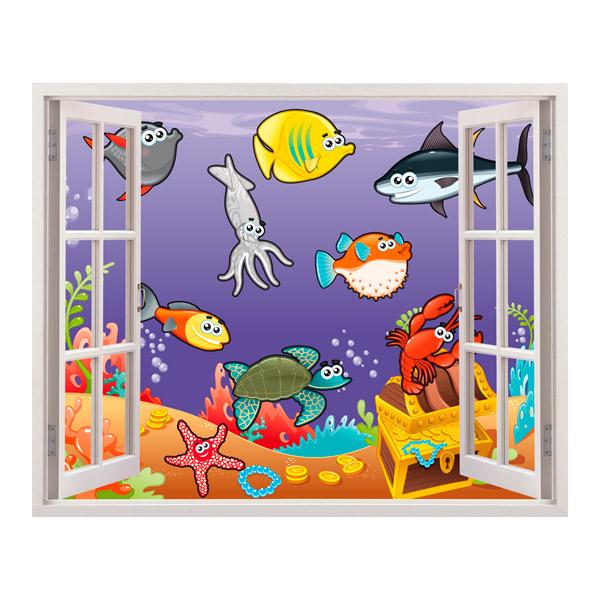 Kinderzimmer Wandtattoo: marine animals