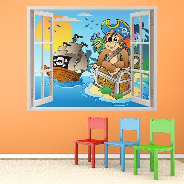 Kinderzimmer Wandtattoo: Affe Schatz