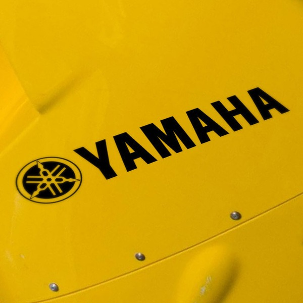 Aufkleber: Logo + Yamaha