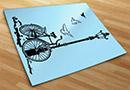 Wandtattoos fahrrad