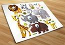 Kinderzimmer wandtattoos tiere kit