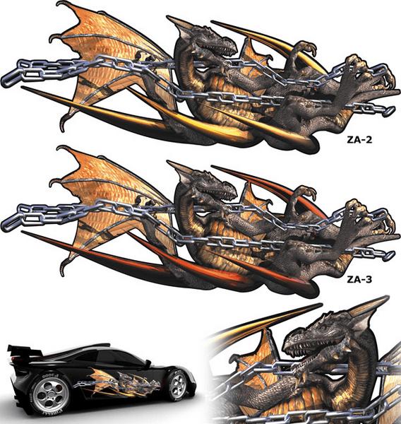 Aufkleber: Dragones 3D 61