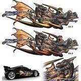 Aufkleber: Dragones 3D 61 3