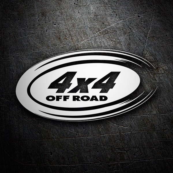 Aufkleber: 4x4 off road oval
