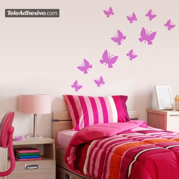 Wandtattoos: Kit 24 Schmetterlinge