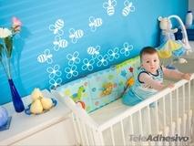 Kinderzimmer Wandtattoo: Bienen und Blumen 1