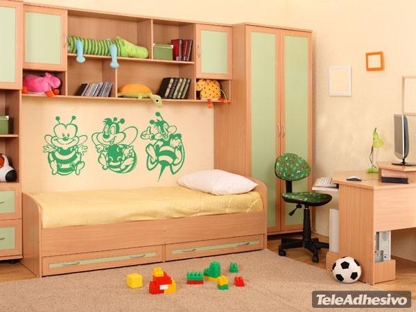 Kinderzimmer Wandtattoo: drei Bienen