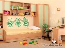 Kinderzimmer Wandtattoo: drei Bienen 1