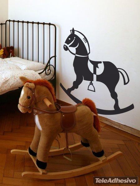 Kinderzimmer Wandtattoo: Holzpferd