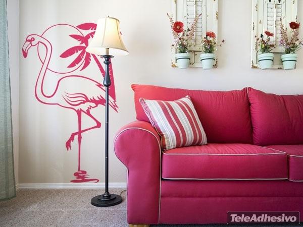 Wandtattoos: Pink Flamingos