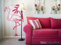 Wandtattoos: Pink Flamingos 2