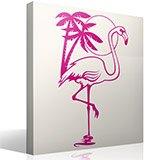 Wandtattoos: Pink Flamingos 3
