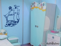 Kinderzimmer Wandtattoo: Piratenschiff 2