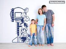 Kinderzimmer Wandtattoo: Medidor basket 2