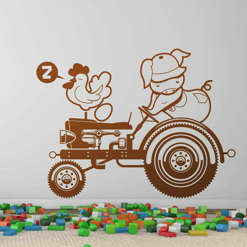 Kinderzimmer Wandtattoo: Tractor