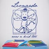 Kinderzimmer Wandtattoo: Leonardo Da Vinci kids 0
