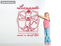 Kinderzimmer Wandtattoo: Leonardo Da Vinci kids 2