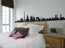 Wandtattoos: Paris Skyline 2