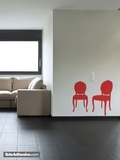 Wandtattoos: Zwei Stühle Jahrgang 2