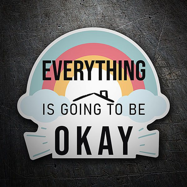 Wandtattoos: Klebstoff Regenbogen Everything is going to be oka