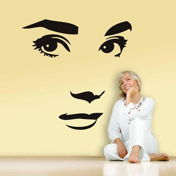 Wandtattoos Audrey Hepburn Gesicht