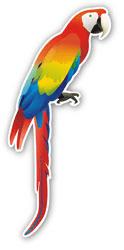 Aufkleber: Parrot 1