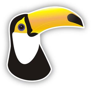 Aufkleber: Pelican 1