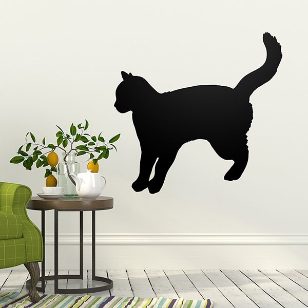 Türposter selbstklebend Wandaufkleber Türaufkleber Tiere Katze im Loch