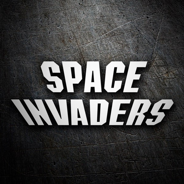 Aufkleber: Space Invaders Logo
