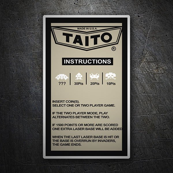 Aufkleber: Taito Instructions